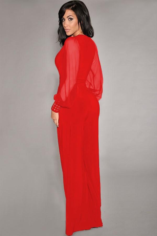 Vestiti e tuniche  Jumpsuit Georgina - rosso 9a5ac8d2f65