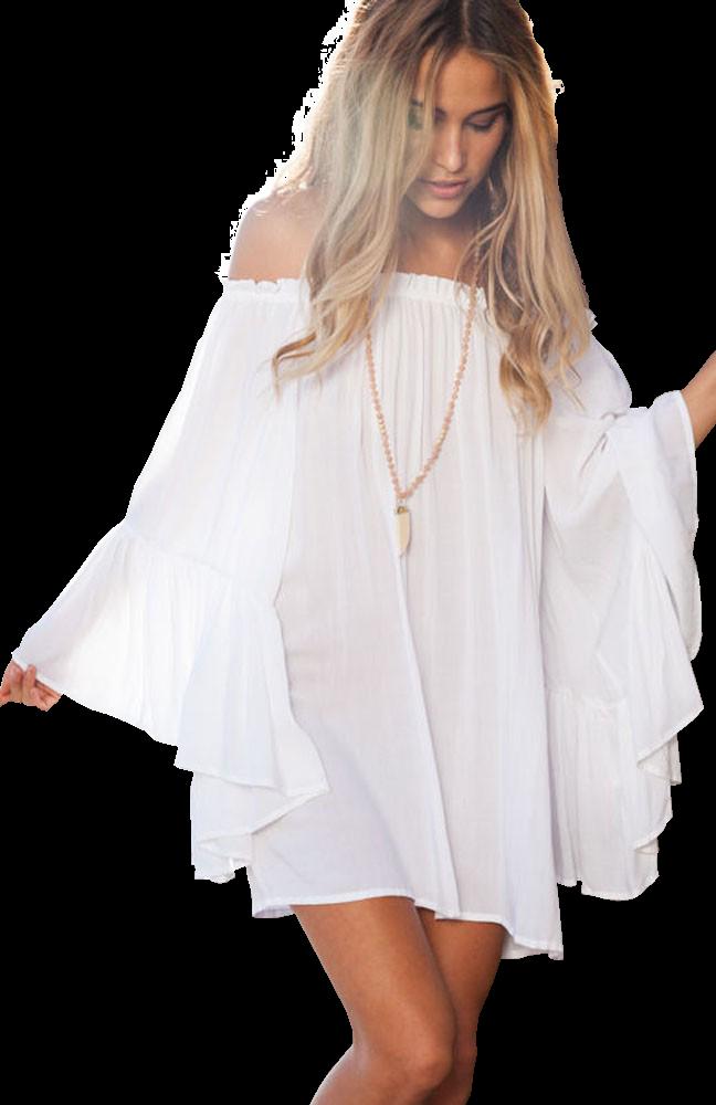 ed7ea1de703e Vestiti e tuniche  Vestito Tianna - bianco