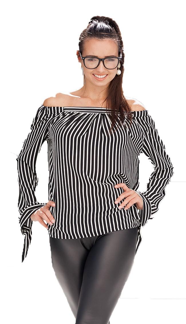 aac6cb58ec Giacche e maglie donna: Camicia Liberty - bianco-nera